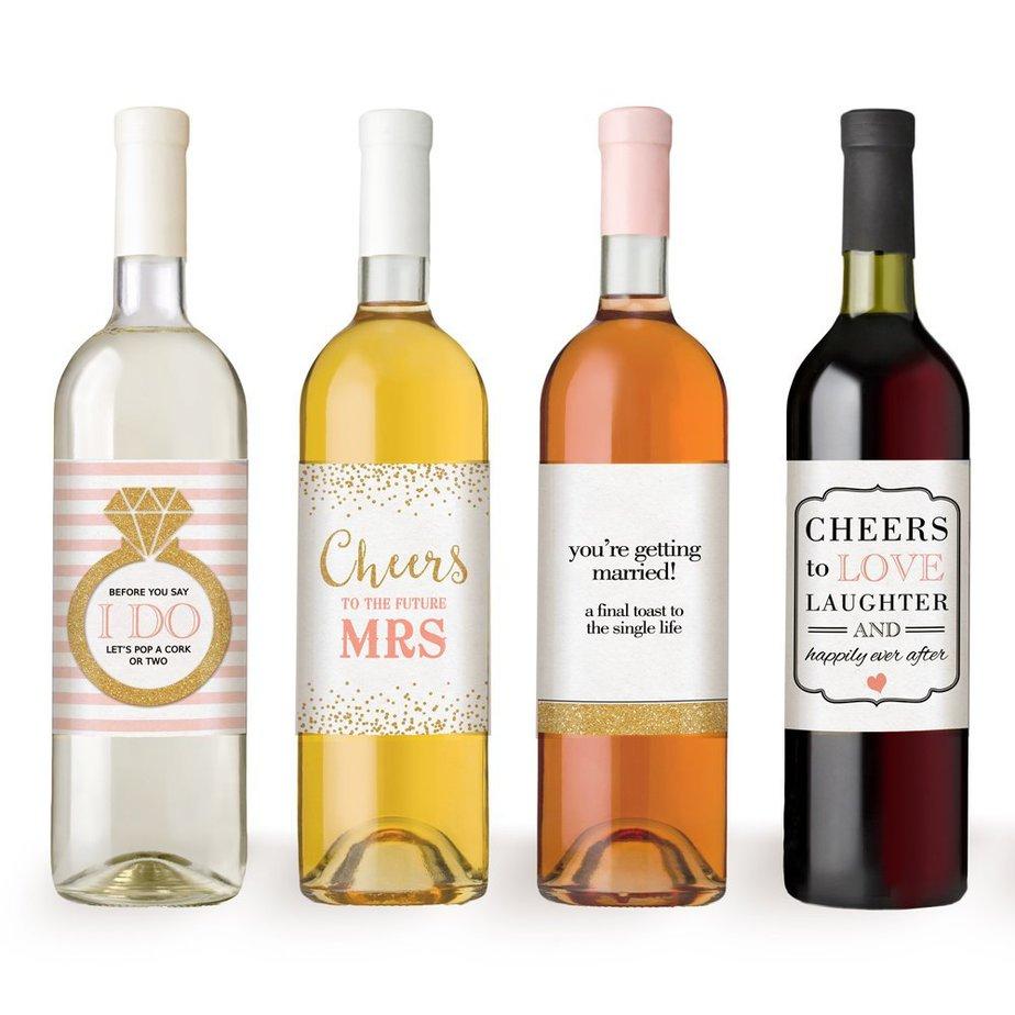 wine wedding labels