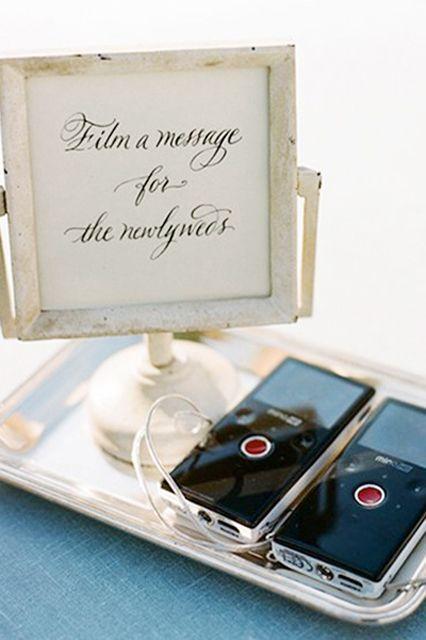 Film a message wedding guestbook idea