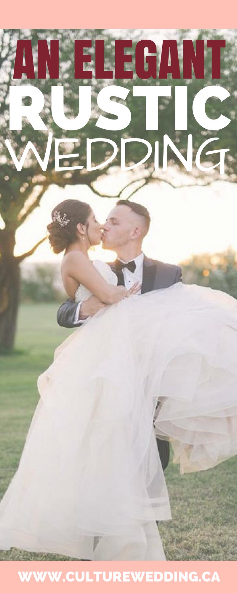 An elegant Rustic Wedding