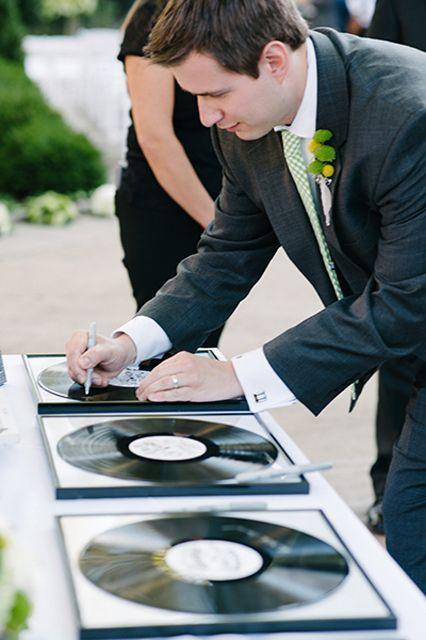 Vinyl guestbook wedding ideas