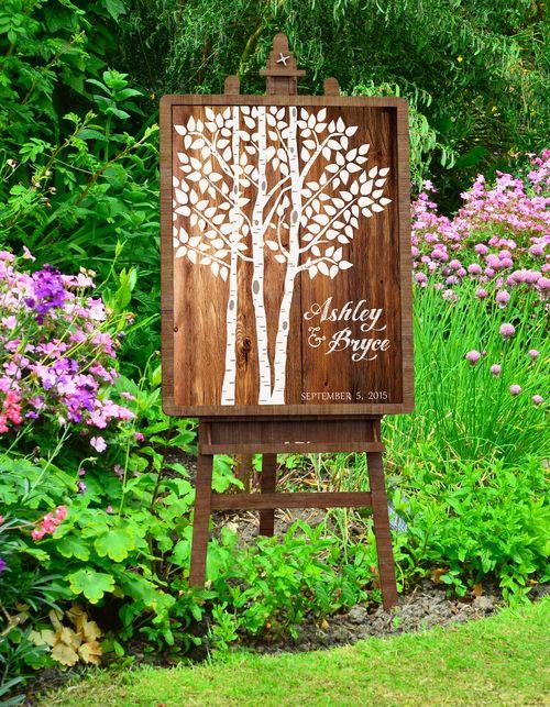 Wedding tree guestbook ideas