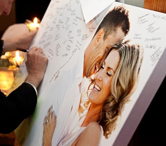 Canvas wedding guest book alternative