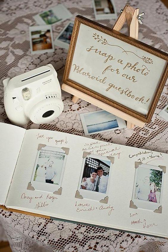 Polaroid wedding guestbook idea