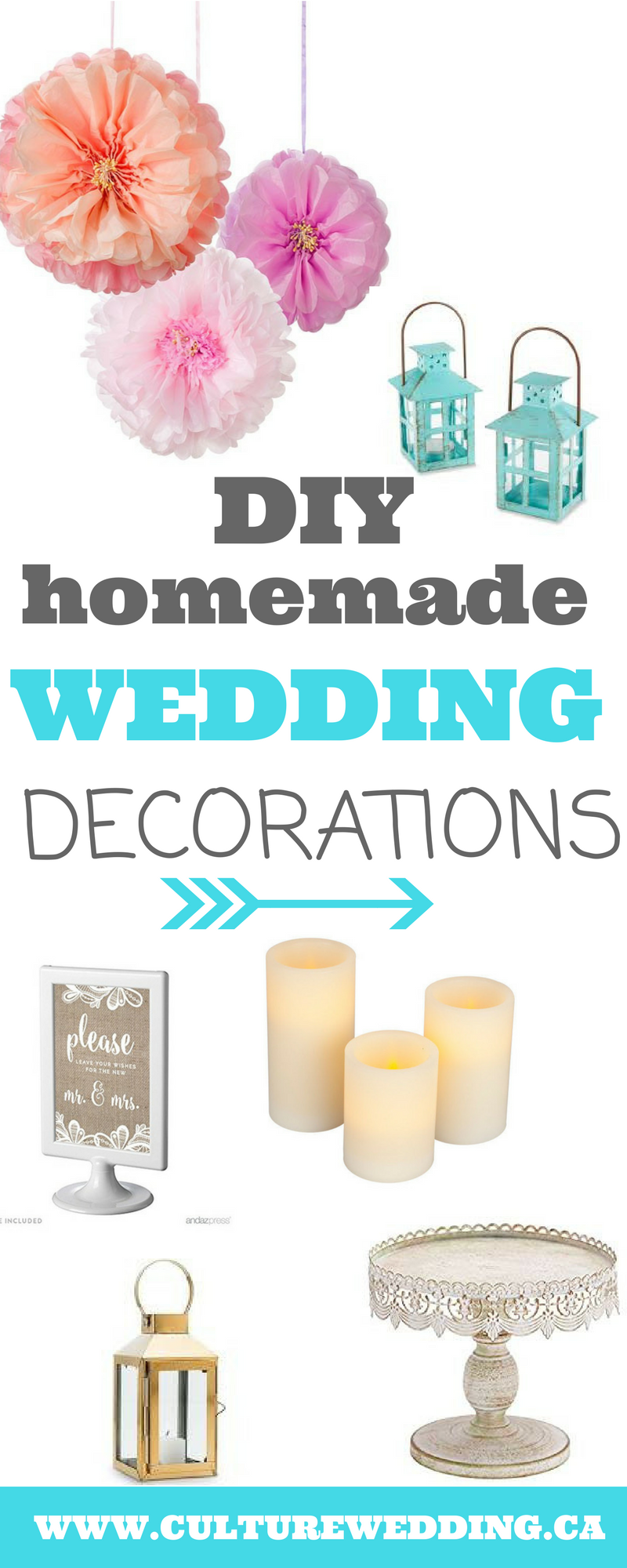 DIY wedding decorations. Cheap homemade wedding decorations. Wedding decorations on a budget. Planning a wedding on a budget. DIY outdoor wedding decorations on a budget. How to plan a wedding on a budget. Making your own wedding decorations. #WEDDINGDECORATIONS #DIYWEDDING