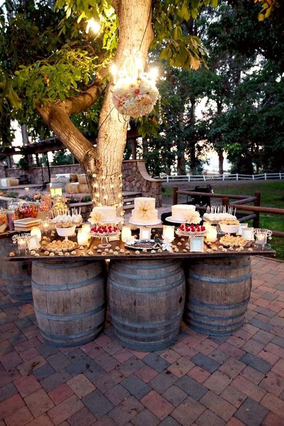 rustic wedding dessert table. Rustic wedding decoration ideas. Rustic decorations on a budget. Rustic wedding planning ideas. Rustic decorations for a wedding. Cheap rustic wedding ideas. Outdoor wedding ideas on a budget. DIY outdoor wedding ideas. #rusticwedding