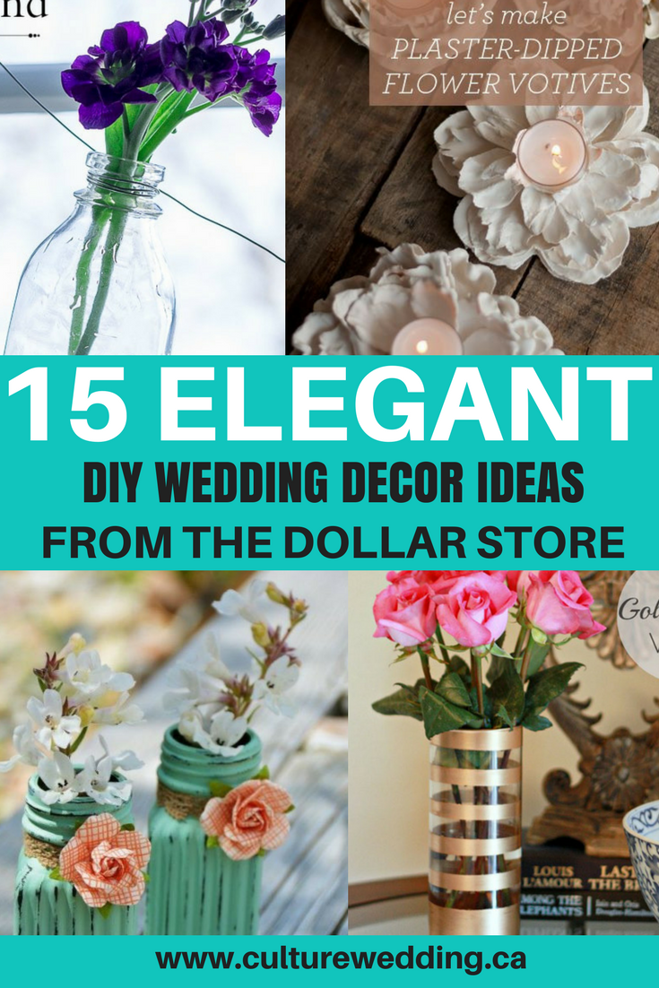 DIY Wedding decoration from the dollar store. Dollar tree wedding decorations. Affordable wedding decoration ideas. Dollar Store Home Decor DIY! How to plan a wedding on a budget. Brides on a budget. How to decorate on a frugal budget. #weddingdecor #budgetwedding how to save money on a wedding.
