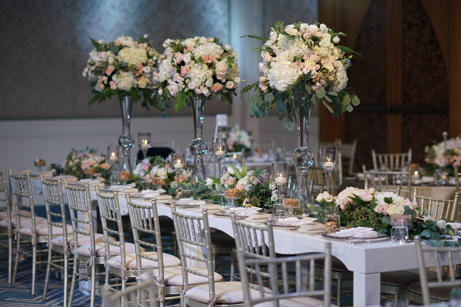 Elegant table setting. Luxury Persian Wedding at the four seasons resort in Dubai. A gorgeous white and pink wedding. Planning a blush and elegant wedding. A beautiful Persian wedding. How to plan a beautiful and elegant wedding on a budget. #weddingplanning #elegantwedding #blushwedding The wedding haven