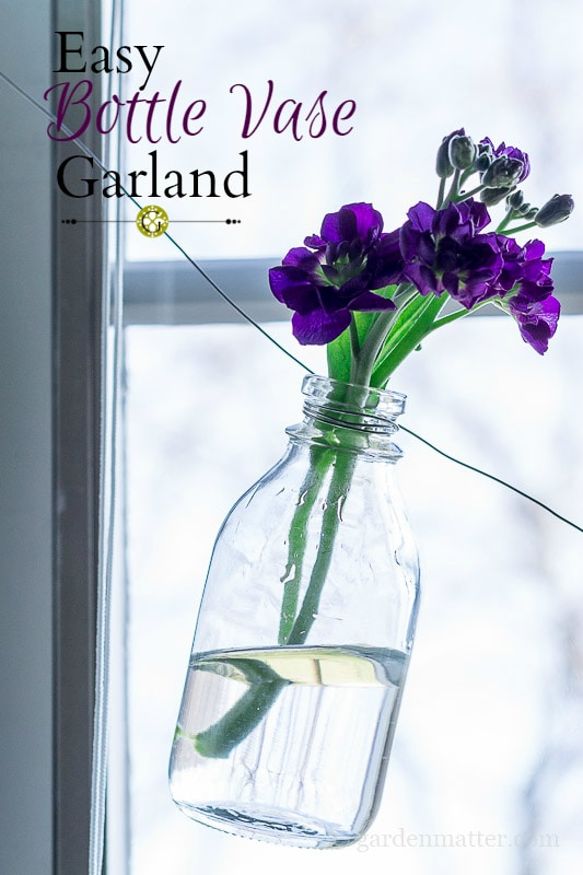 Bottle garland for a spring wedding. DIY Wedding decoration from the dollar store. Affordable wedding decoration ideas. Dollar Store Home Decor DIY! How to plan a wedding on a budget. Brides on a budget. How to decorate on a frugal budget. #weddingdecor #budgetwedding how to save money on a wedding.