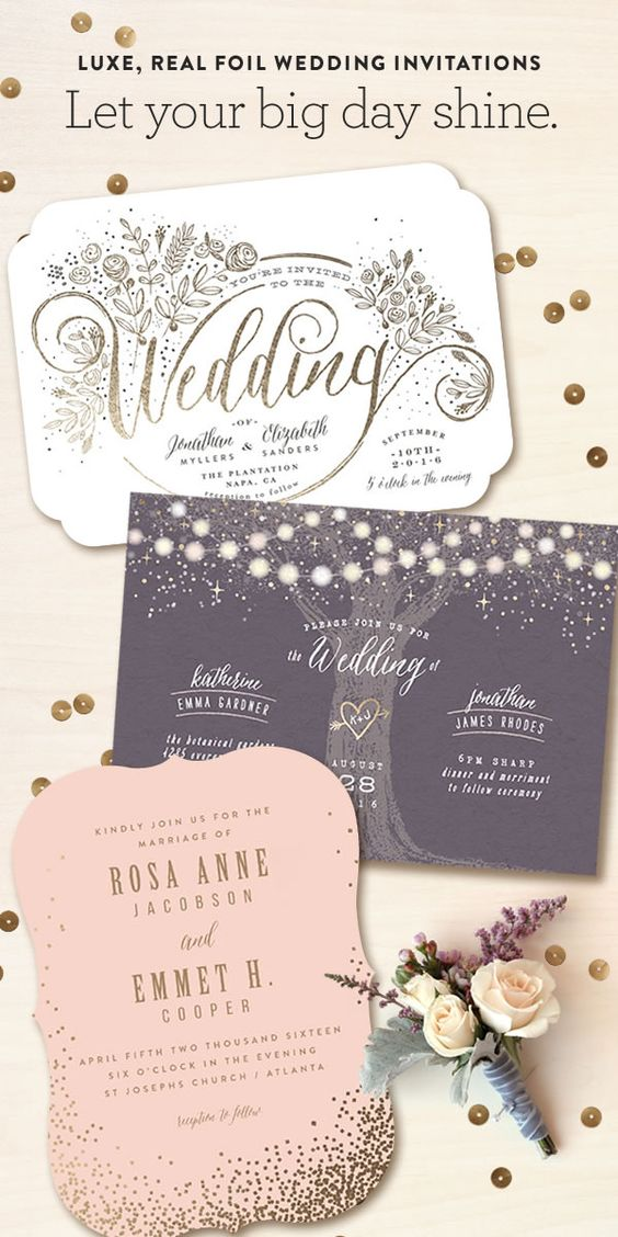 Minted is a community of independent artists, and they're inspired by luxe, real foil on wedding invitations and day-of pieces. Discover your favorites!. The best and affordable wedding invitations online #weddinginvitations #mintedweddings