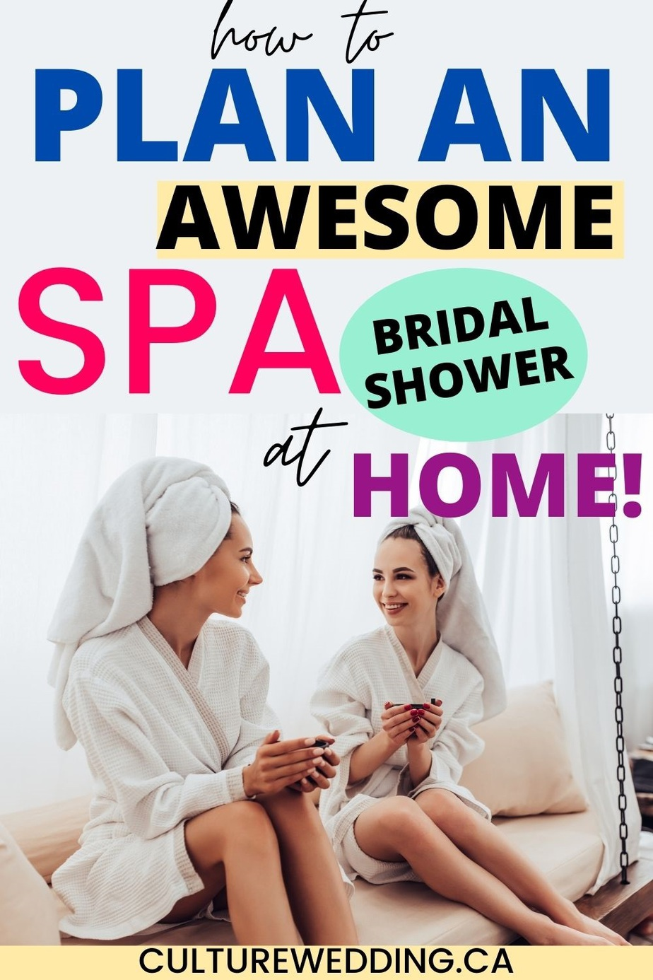 Plan the perfect themed spa bridal show. Here are the best ways to plan a spa bridal shower that won't cost your budget. Take your bridesmaids on a spa for a bridal shower themed event #weddingplanning #bridalshowerideas #weddingtheme #bridalshower A few bridal shower ideas to inspire you.