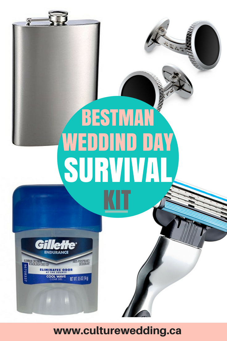 Best man wedding day survival kit. DIY Wedding emergency kit. What to pack in an emergency wedding kit for your wedding. Be prepared for any wedding day disaster with the best wedding day survival kit. Packing your wedding emergency kit in the bag #weddingdayemergencykit #weddingsurvivalweddingkit #weddingkit #weddingplanning