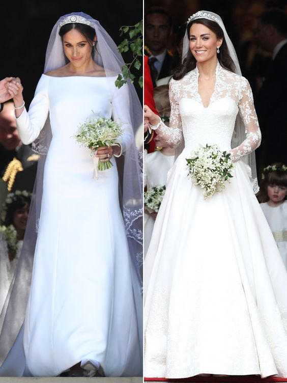 Both Kate Middleton and Meghan Markle wore long sleeves wedding dresses for their wedding and this is one wedding trend we want to see comeback. long sleeve wedding dress ideas. Lace long sleeve wedding dress. #weddingdresses #weddingdressidea