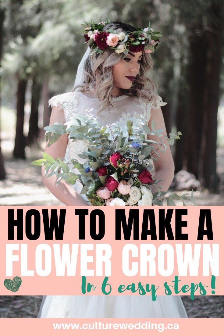 how to make a flower crown. Learn how to make your own DIY Flower crown in 6 easy steps. Here is a step by step DIY tutorial on how to make a flower crown with real flowers! how to make a diy flower crown step by step #diycrownflower #flowercrown #diyflowercrown