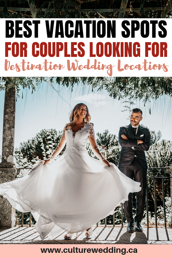 The best destination spots for couples to get married in. If you are looking for places to get married then check out this list of the ultimate place to get married. Perfect for vacation, weekend getaways, honeymoon locations and fun travel places. #vacationmode #traveltips