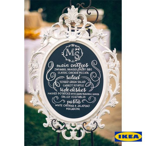 Ikea frames. Look up Ung Drill Frame. These are some of the best ikea wedding hacks to use. If you are looking for affordable DIY wedding decoration ideas, be sure to check this post #ikeaweddinghacks #diywedding