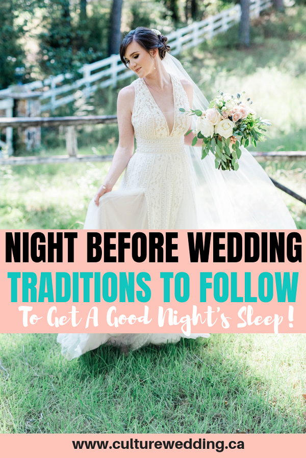 Night before wedding! Here are a few things brides must do the night before the wedding. Ideas of things the bride can do before the wedding #weddingplanningtips #bridetobe