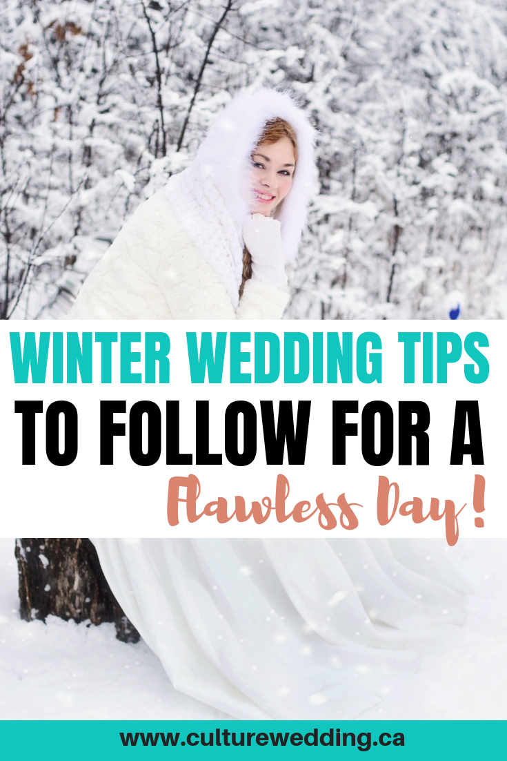 Here are a few winter wedding ideas you can follow to plan the perfect wedding. Winter wedding ideas on a budget for those trying to save money. Planning a winter wonderland wedding? Follow these tips! #winterwedding #weddingtips #winterwonderland