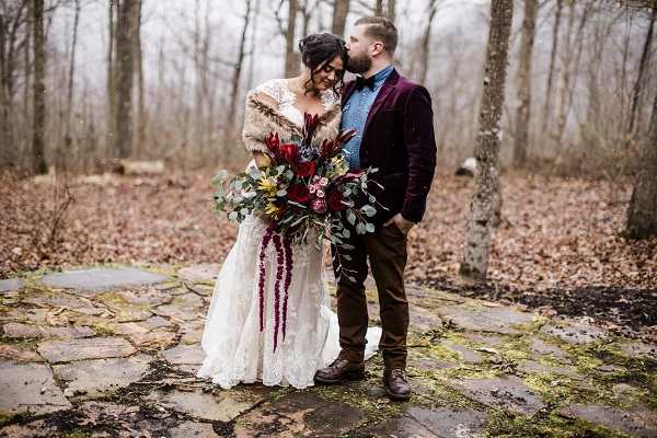 Winter wedding bouquet. Large wedding bouquets do well for winter weddings.