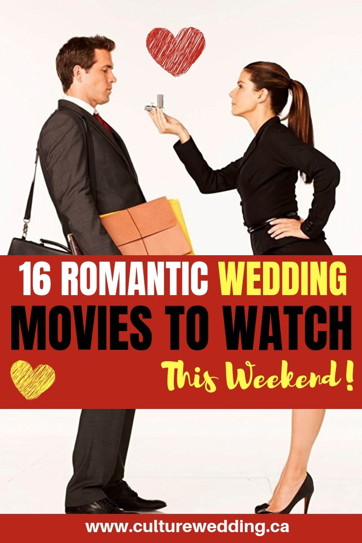 Here are a few romantic wedding movies to watch to help you plan a wedding. If you are planning a wedding movie themed event, this can help you get started! #weddingmovies