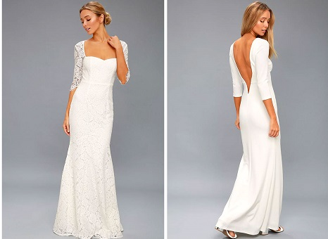 Shop Lulu's Wedding Dresses. Find simple affordable wedding dresses with Lulu's #weddingdresses #laceweddingdress #cheapweddingdress