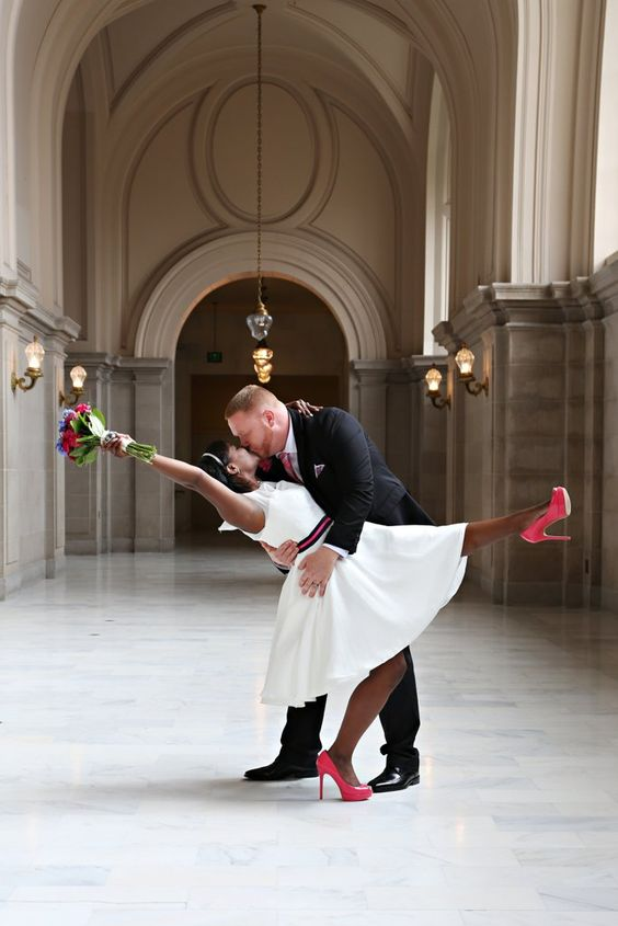 A wedding for two. Save money and get married at City Hall! Have a wedding of your dreams on a budget!