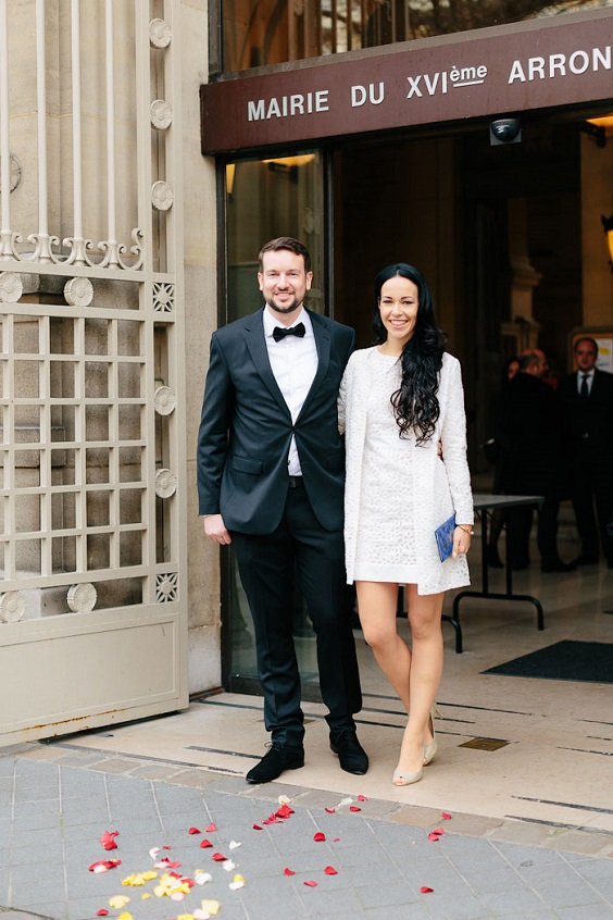 This is an intimate wedding for two in Paris!