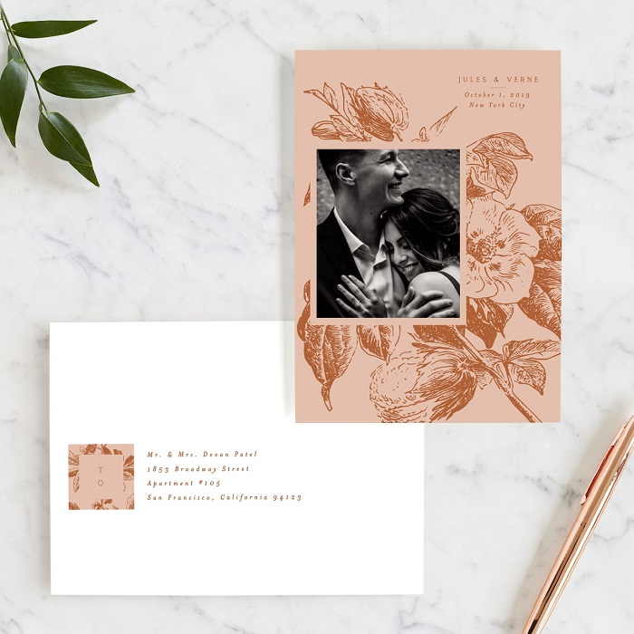 vintage romance save the date by nazia hyder! Wedding invitation and address envelop suites for your wedding day #weddingday #weddinginvitation