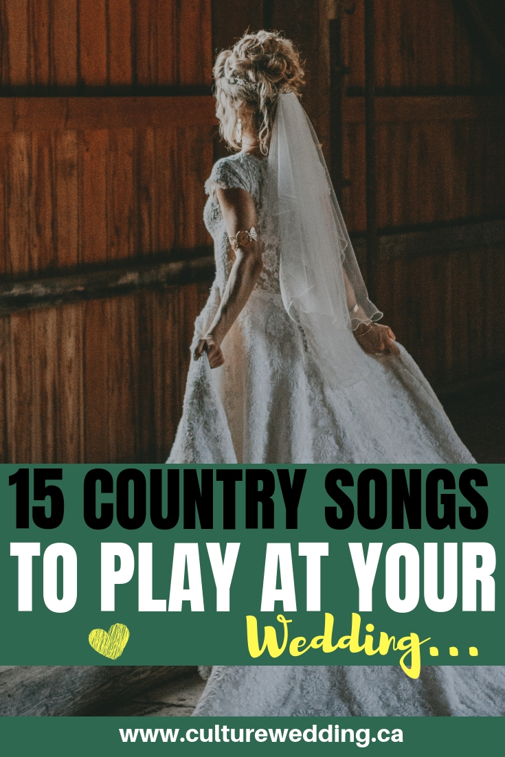 Here is a list of country wedding songs to walk down the aisle. You are are going to love our suggestions to country wedding songs for your wedding reception. The country wedding songs are perfect for country lovers. If you are planning a country wedding, be sure to check out this country wedding playlist #countrywedding #weddingsongs