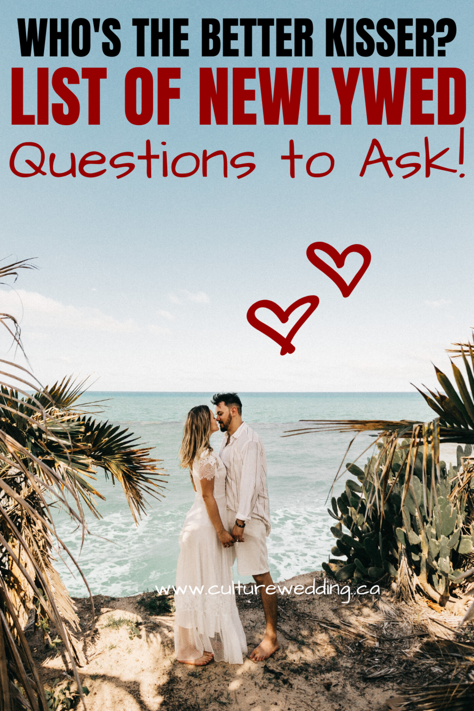Looking for questions to ask the newlywed couple? We have a list of funny questions you can ask the newlywed couple at your next party. They are perfect questions to ask newlywed couples if you are planning a games night. #newlywed #newlywedgame
