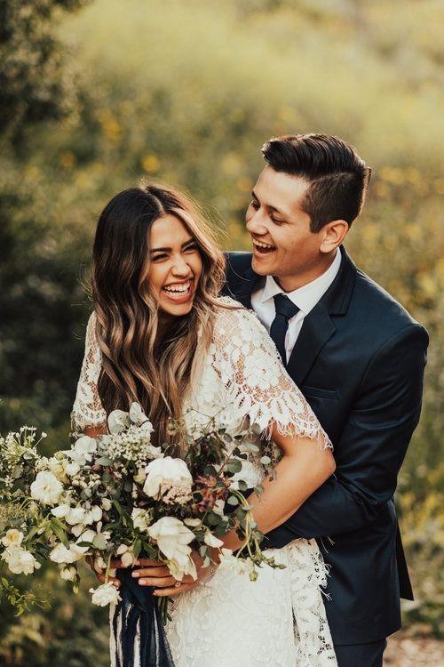 A romantic Bohemian wedding! Oak Canyon Nature Center / Anaheim California Wedding Photographer Tessa Tadlock / Boho Wedding