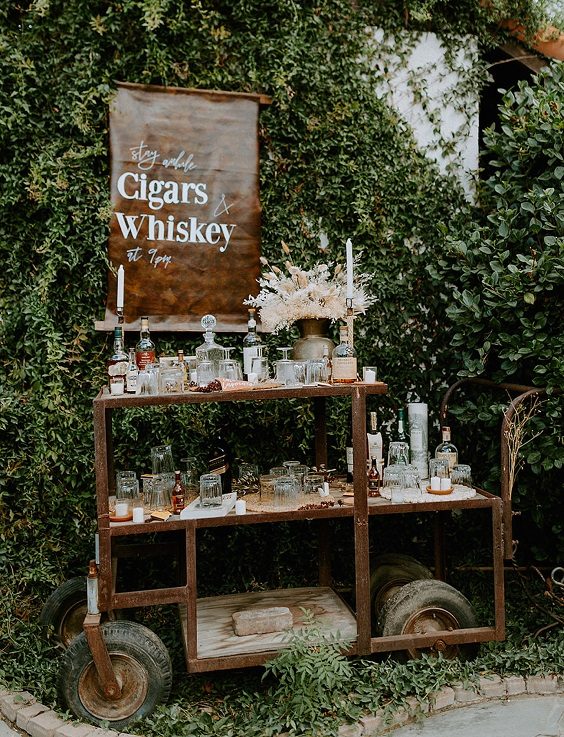 Here is an epic outdoor cigar station for a wedding! Plan the ultimate wedding station today!