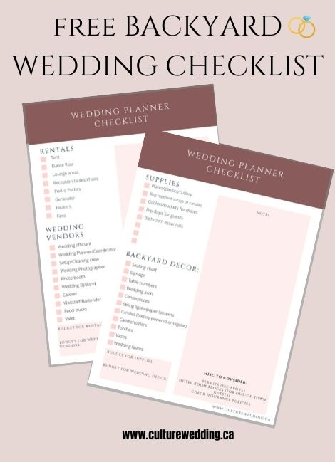 Check out this backyard wedding checklist for brides planning an outdoor wedding this year!