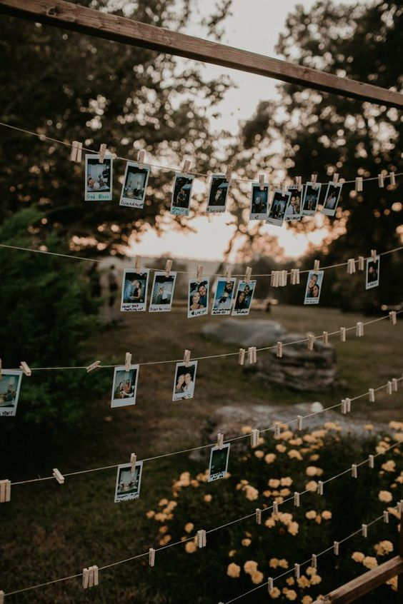 Gorgeous backyard wedding decor idea