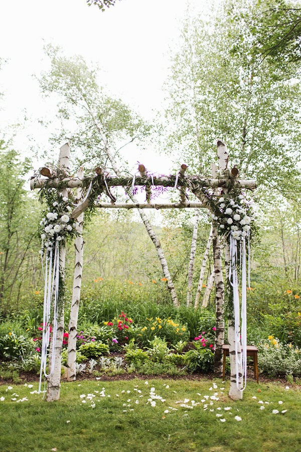 Italian backyard wedding ceremony decor!