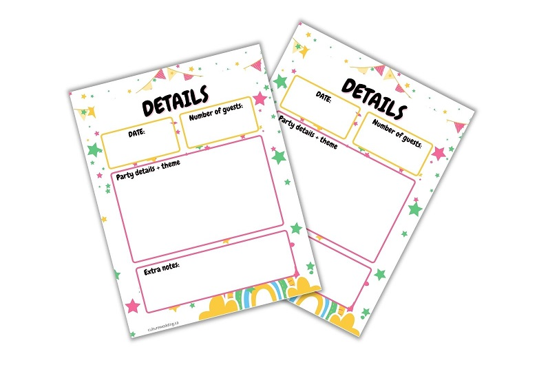 Party Planning Printables to Keep You Organized! Grab this party planner printable and checklist! This handy Party Planning Kit includes everything you need to plan the best party ever.Party Planner Printable with A Checklist and Many Other Awesome Party Planning Worksheets.