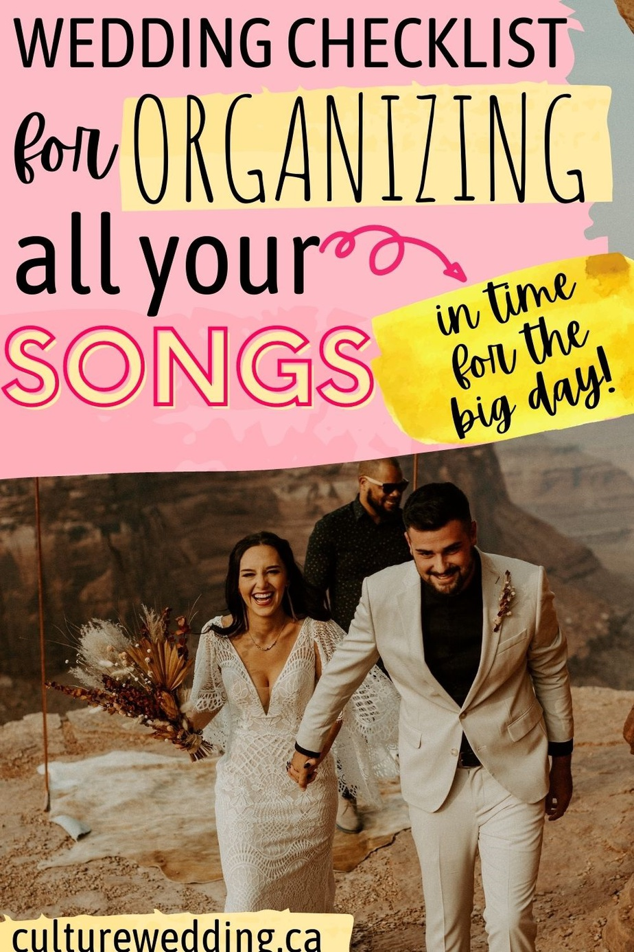 We've got all the checklists that will make planning your wedding a breeze! Grab this wedding song checklist printable today and organize your wedding song list today. Picking out the right music for your wedding reception can be a daunting task. That's why we created this wedding song list printable to help!