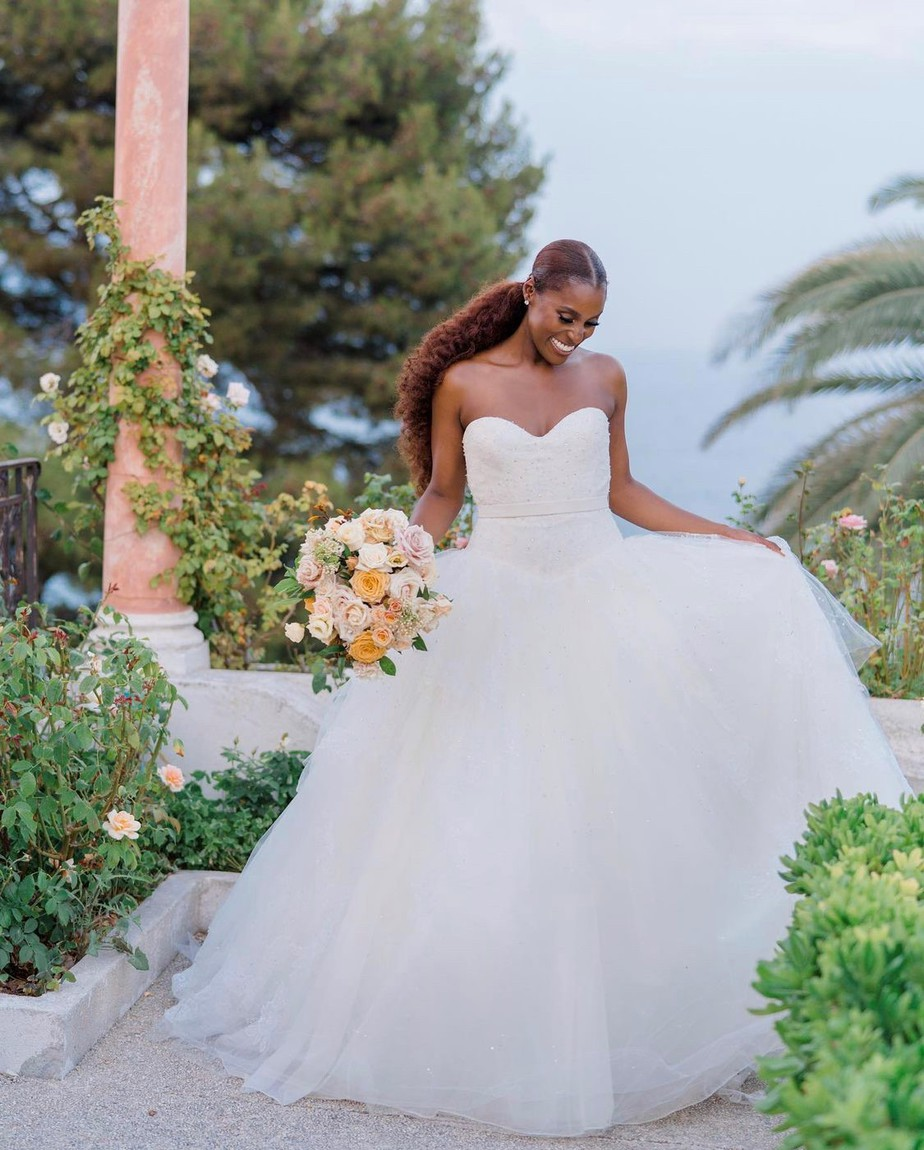 issa rae and louis diame got married in the South of France, check out her romantic wedding photos today.