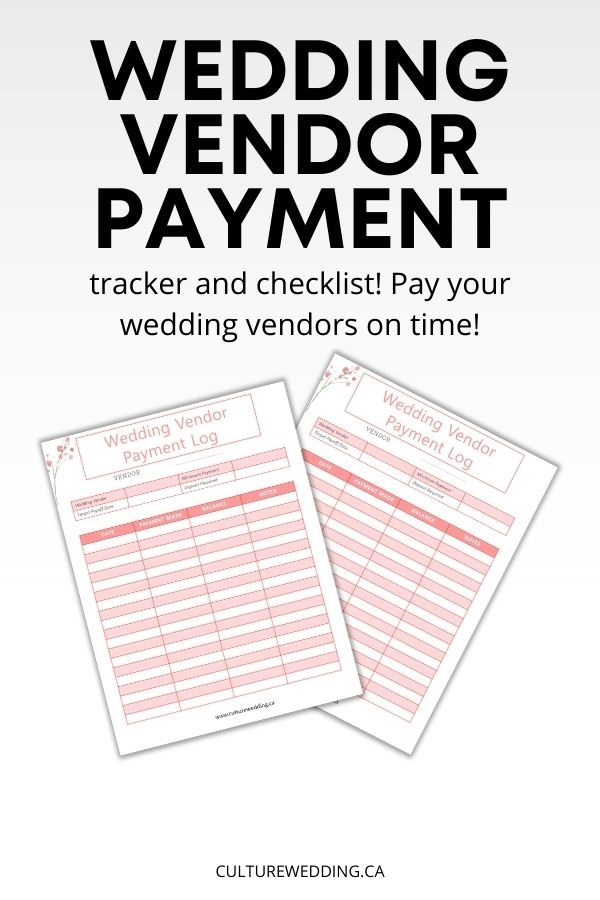 wedding vendor payment tracker/ wedding vendor payment checklist! Learn exactly How to Pay for Your Wedding by a Specific Date using our wedding vendor payment log.